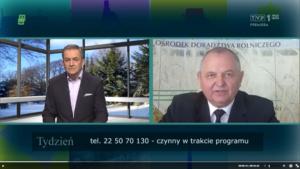 Wywiad z Ryszardem Zarudzkim – dyrektorem KPODR w magazynie TYDZIEŃ, TVP1